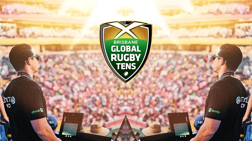 crowdDJ at the Brisbane Global Rugby Tens