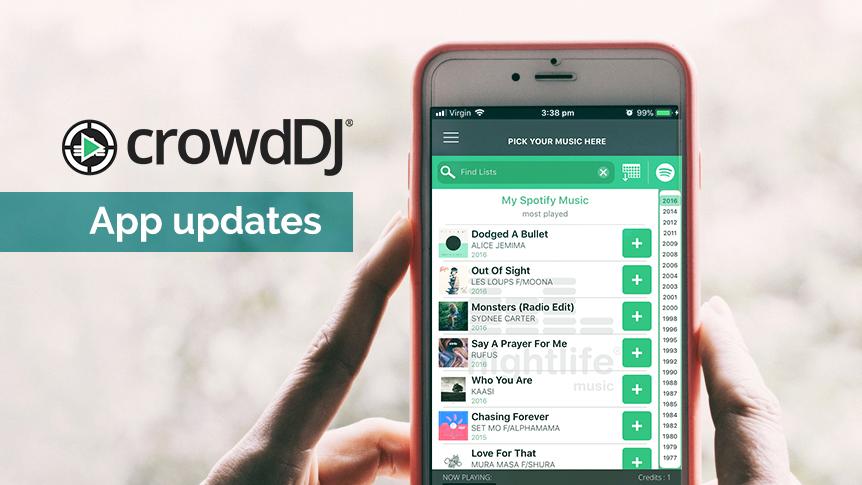 New crowdDJ app updates