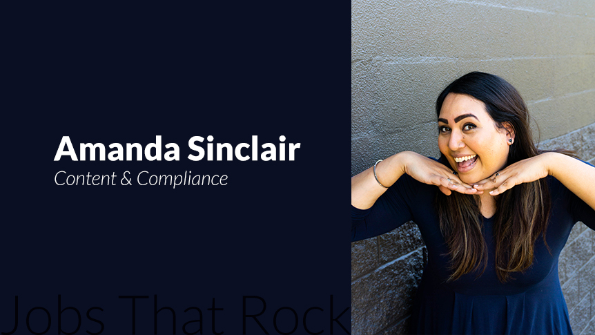 Jobs that rock - Content and Compliance Officer Amanda Sinclair