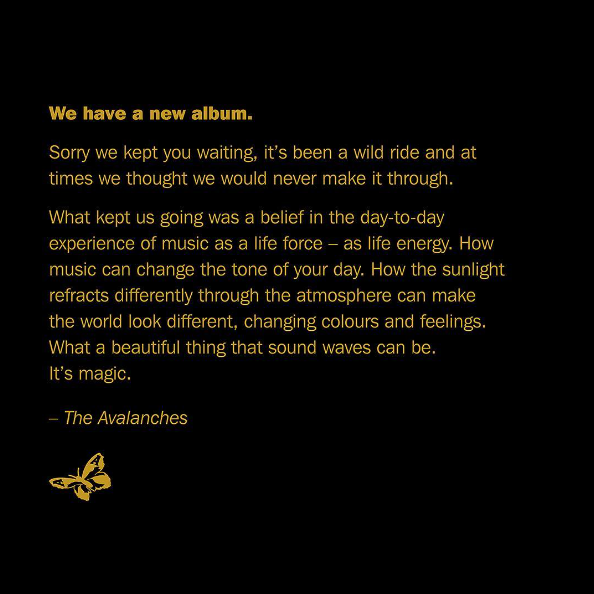The Avalanches apologise for their new music taking years to be released.