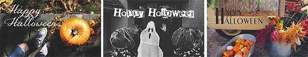 Halloween digital advertising slides