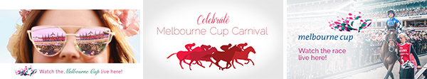 Melbourne Cup digital advertising slides