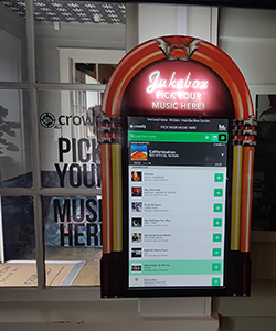 Custom crowdDJ Kiosk surround