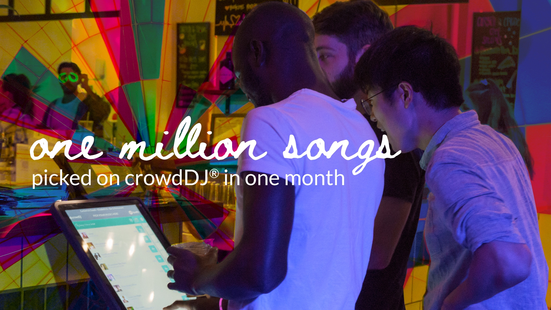 One million songs picked on crowdDJ in one month!